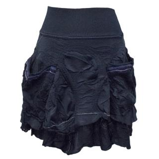 Marith Francois layered navy skirt