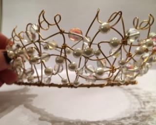 Harrods Pearl and Metal Tiara