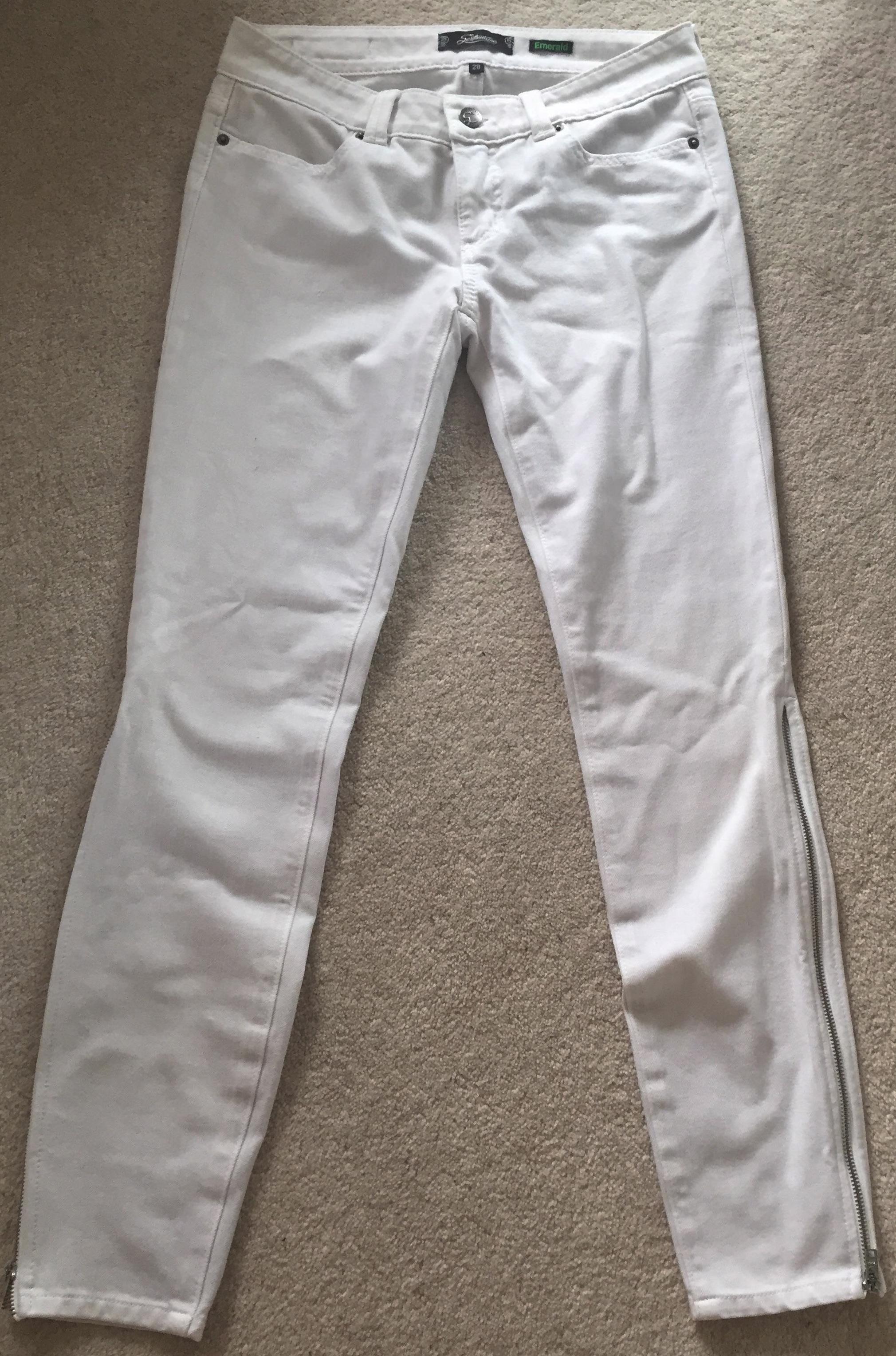 Serafontaine Emerald White Jeans