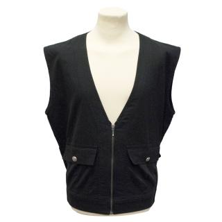 Friedrich Gray Sleeveless Jacket
