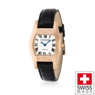 Saint Honore Lady 18K gold plated watch with diamonds