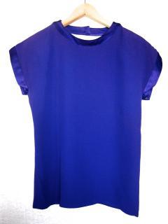 Vintage Saint Laurent rive gauche blue/purple silk top, FR size 38