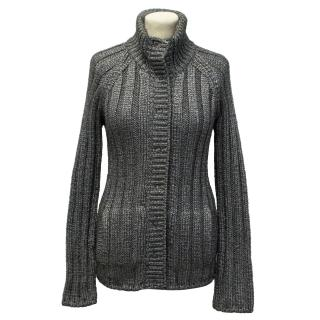 Dolce and Gabbana Grey Metallic Cardigan