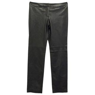Milly Brown Leather Trousers