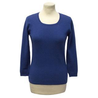 Maria Di Ripabianca Blue Cashmere Jumper