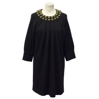 Adam Pluseve Black Wool Dress