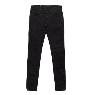 Selected Black Jewelled Skinny Jeans