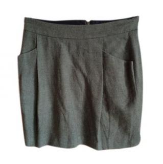 Day Birger et Mikkelsen Crease Green Skirt