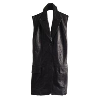 Barbara Bui Backless Leather Waistcoat