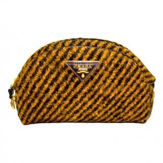Prada Tessuto Wool Vitello clutch