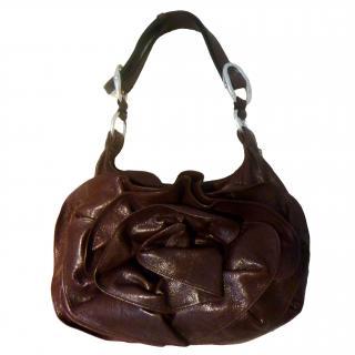 1d52adf6f47 Yves Saint Laurent Nadja Ros Leather Handbag
