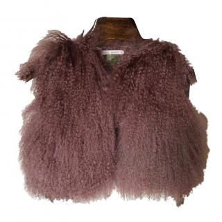Girls fur Gilet