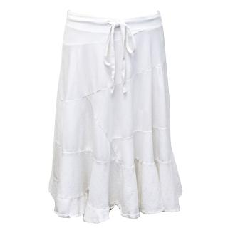 Ichthys White Tie Up Midi Skirt