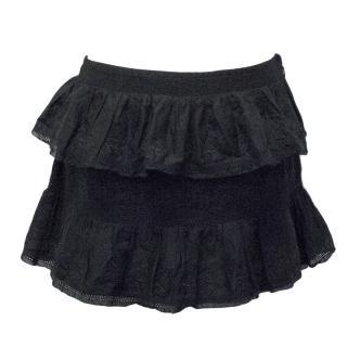 Jill Stuart Black Tiered Skirt