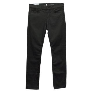 7 For All Mankind Black Rhigby Jeans