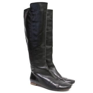 Barbara Bui Black Leather Knee High Boots