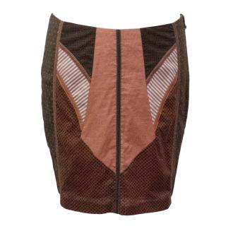 Tweny8Twelve Brown and Red Aztec Skirt