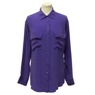 Equipment Violet Silk Shirt