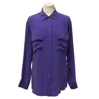 Equipment Violet Silk Shirt
