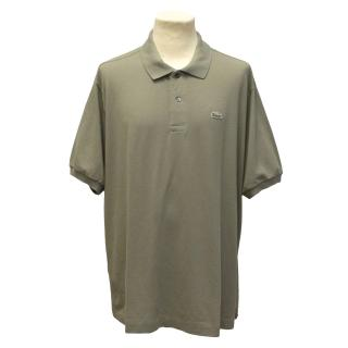 Lacoste Grey Green Polo Shirt