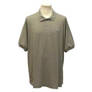 Lacoste Grey Green Polo Shirt