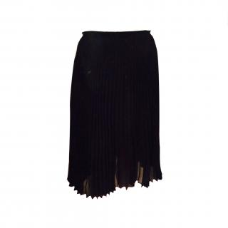 Sandro Black Pleated Skirt