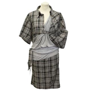 Preen Tartan Grey Dress