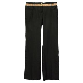 Dolce & Gabbana Black Pinstripe Trousers