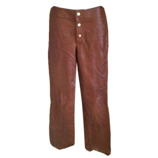 Gucci Leather Trousers