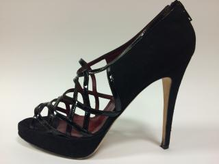 Brian Atwood Black Strappy Cage Heels