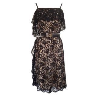 Sportmax by Max Mara Black Lace Dress
