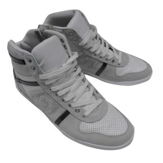 The Kooples Men's white leather & suede rising shoes