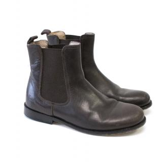 Harrods Brown Chelsea Boots
