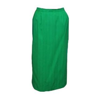 Pierre Balmain  green wool skirt