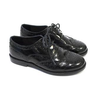 Dolce & Gabbana Girls Black Lace Up Brogues