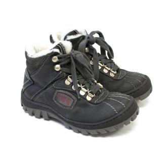 Iceberg Grey Lace Up Winter Boots