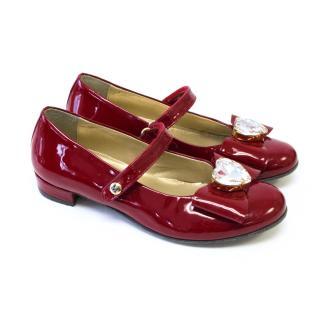Missouri Kids Red Patent Ballerina Shoes