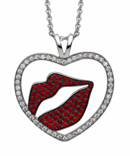 Theo Fennell  Kiss my Art Diamond Necklace