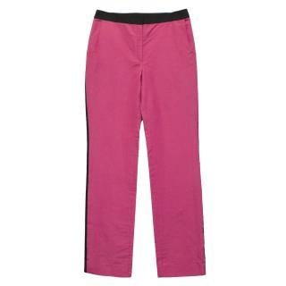 Prabal Gurung Pink Trousers with Black Silk Trim