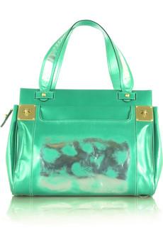 4ce9613719ac Mulberry Emerald Metallic Milton Tote Bag