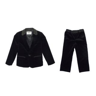 D&G Kids Black Jacket and Trouser Suit