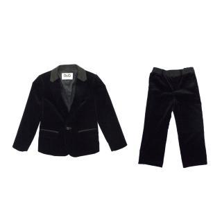 D&G Kids Black Jacket and Trouser Suit