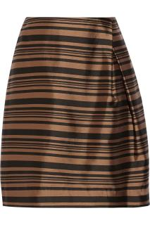 Raoul Stripe 'Tulip' Side pleat skirt