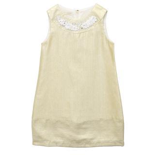 I Pinco Pallino Kids Metallic Gold Dress