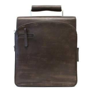 Oliver Sweeney Brown Distressed Leather Briefcase