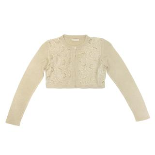 I Pinco Pallino Gold Metallic Cardigan