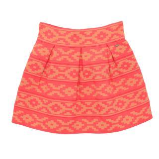 Scotch R'Belle Neon Pink Aztec Skirt