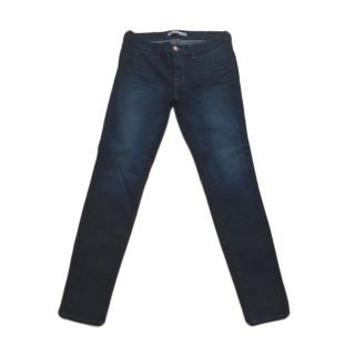 J Brand Low Rise Dark Wash Skinny Jeans