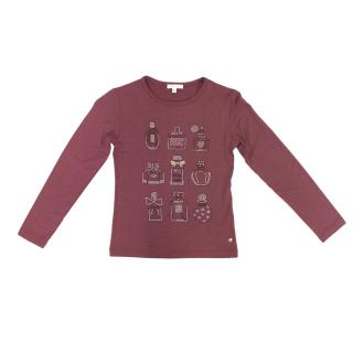 Miss Grant Pink T Shirt with Embellished Perfume Bottles