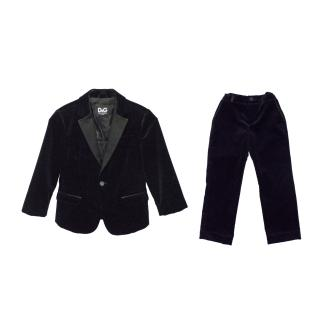 Dolce & Gabbana Black Jacket and Trouser Suit